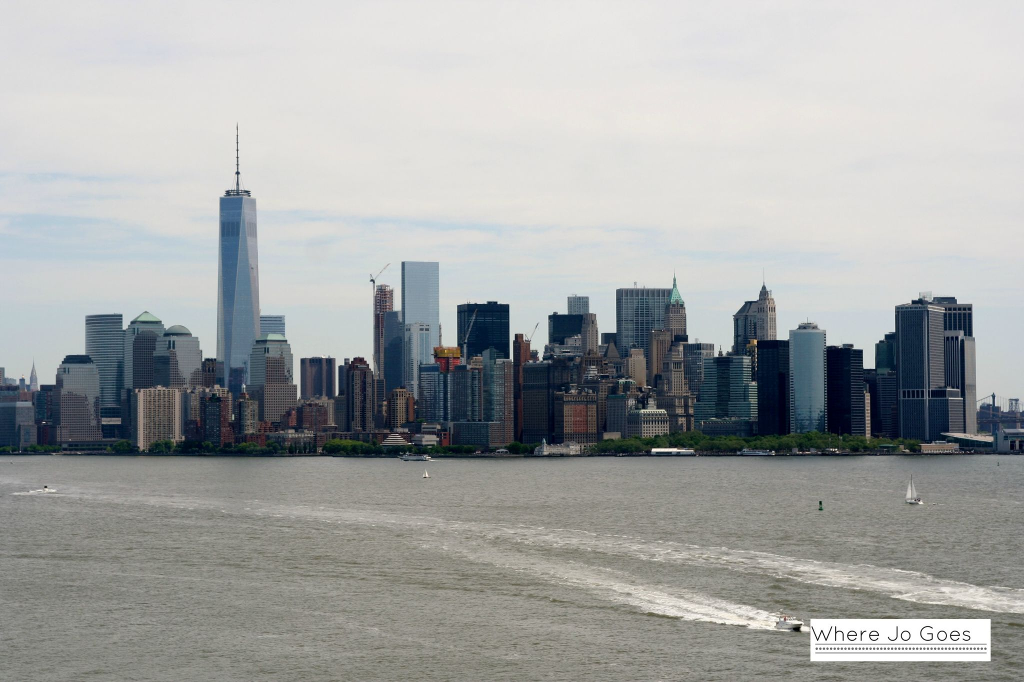 Manhattan skyline from Statue of Liberty