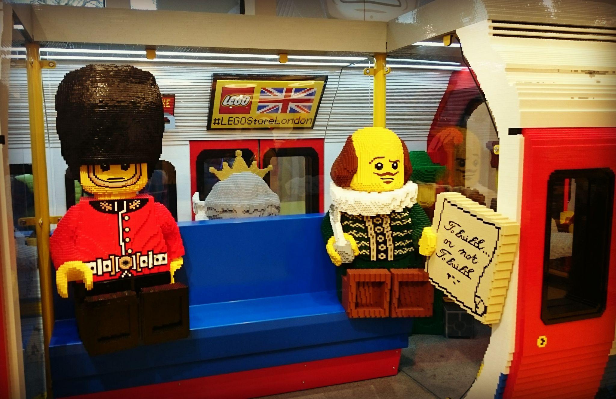 Lego Tube Train, Lego Store, London