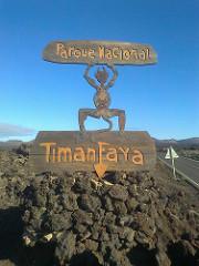 Timanfaya Park Sign, Manrique, Lanzarote